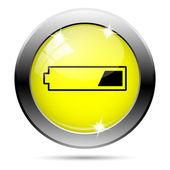 1 третий заряженный аккумулятор значок — Стоковое фото