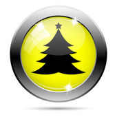 Xmas tree icon — Stock Photo