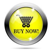 Kaufen Sie jetzt Einkaufen Einkaufswagen-Symbol — Stockfoto