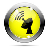 Wireless antenna icon — 图库照片
