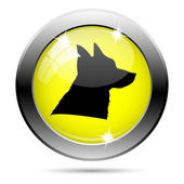 Dog icon — Stock Photo