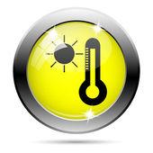 Icône soleil et thermomètre — Photo