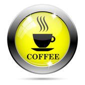Kahve kupası simgesi — Stok fotoğraf