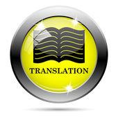 çeviri kitap simgesi — Stok fotoğraf