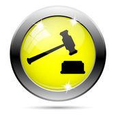 Judge hammer icon — Stockfoto