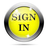 サインインのアイコン — ストック写真