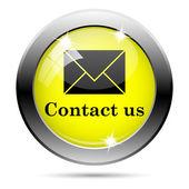 Contact us icon — ストック写真
