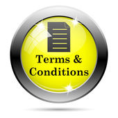 Terms and conditions icon — Stock Photo