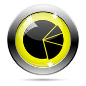 Chart pie icon — Foto de Stock