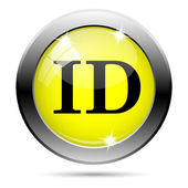 ID icon — Foto de Stock
