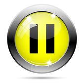 Duraklatma simgesi — Stok fotoğraf
