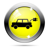 Elektrikli otomobil simgesi — Stok fotoğraf