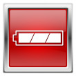 Fully charged battery icon — стоковое фото #32031309