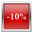 10 percent discount icon — Photo