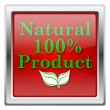 100 percent natural product icon — стоковое фото #32031393