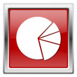 Stock Photo: Chart pie icon