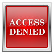 Access denied icon — Foto de Stock