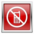 Mobile phone restricted icon — стоковое фото #32032031