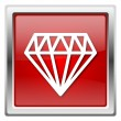 Diamond icon — Stock Photo