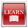 Learn icon — Foto de Stock