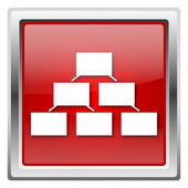 Icona di organigramma — Foto Stock