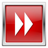 Fast forward sign icon — Stockfoto