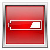 1 trzeci ikony naładowanej baterii — Zdjęcie stockowe