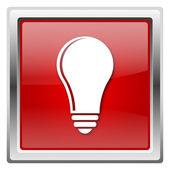 żarówka - pomysł ikona — Zdjęcie stockowe
