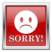 Sorry icon — Foto Stock