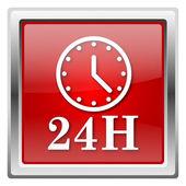 Ícone de relógio de 24 horas — Fotografia Stock