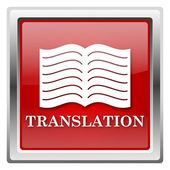 Translation book icon — Stok fotoğraf