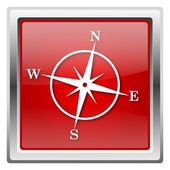 Ikona kompas — Zdjęcie stockowe