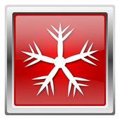 Ikona śnieżynki — Zdjęcie stockowe