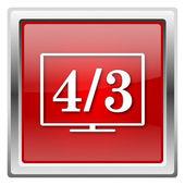 4 3 ikon tv — Zdjęcie stockowe