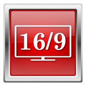 16 9 テレビ アイコン — ストック写真