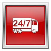 24 7 配信トラック アイコン — ストック写真