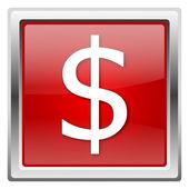 Dolar ikona — Zdjęcie stockowe