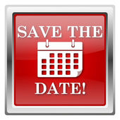 Save the date icon — Stock Photo