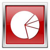 иконка круговая диаграмма — Стоковое фото