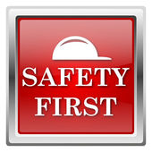 Safety first icon — Stok fotoğraf