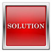 Rozwiązanie ikona — Zdjęcie stockowe