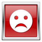 Sad smiley icon — Stock Photo
