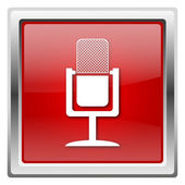 Microphone icon — Foto de Stock