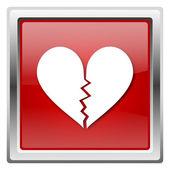 Broken heart icon — Stock Photo
