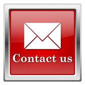 Skontaktuj się z nami ikona — Zdjęcie stockowe