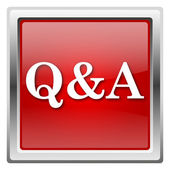 Q&A icon — Foto de Stock