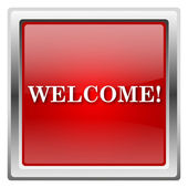 Welcome icon — Stockfoto
