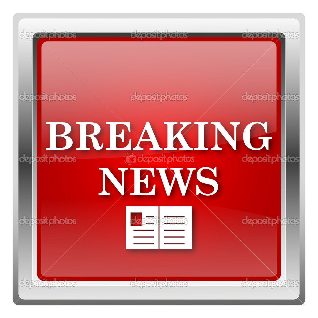 breaking news icon � stock photo 169 valentint 32031947