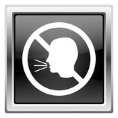 No talking icon — Stock Photo