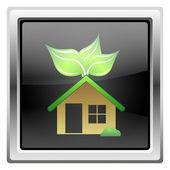 Eko dom ikona — Zdjęcie stockowe